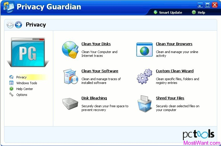 PC Tools Privacy Guardian Software 4.5