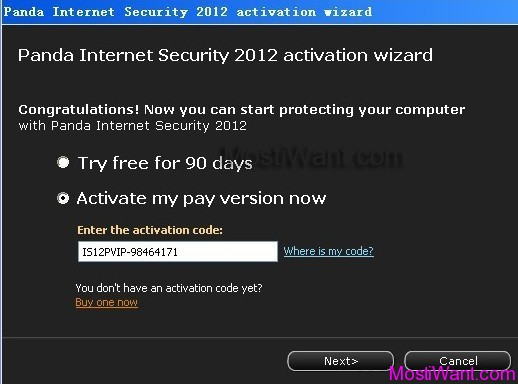 Panda Internet Security 2012 Free 6 months Serial Key