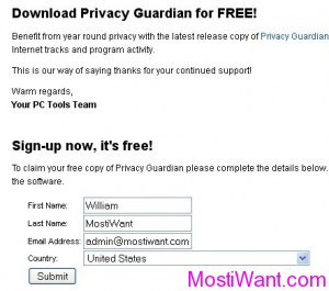 PC Tools Privacy Guardian for FREE