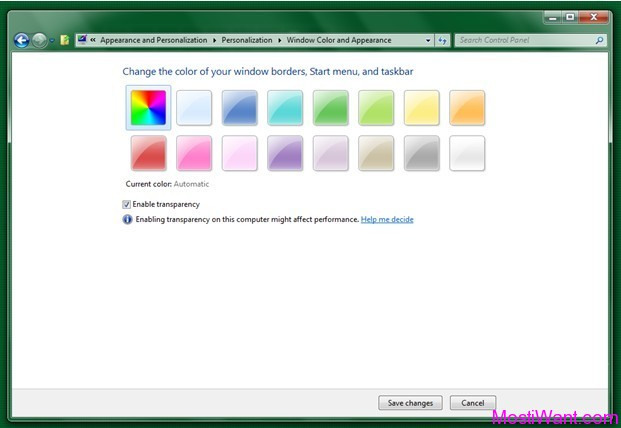 Windows 8 Aero Color Rotation