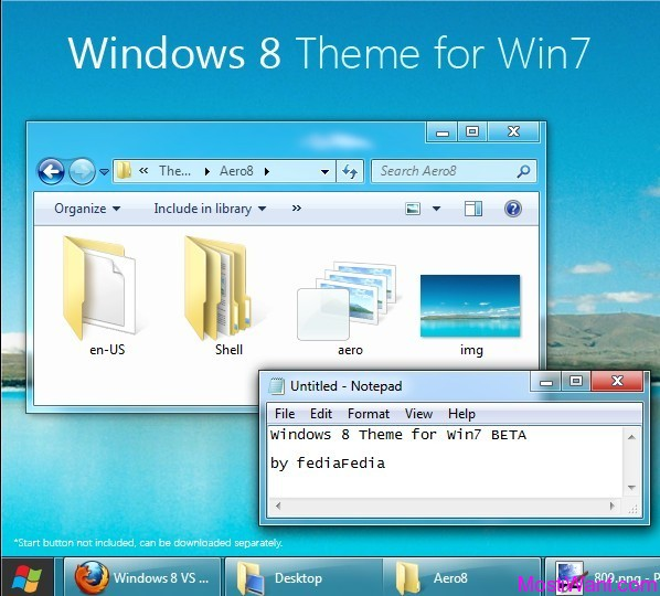 Windows 8 Aero Visual Style Theme