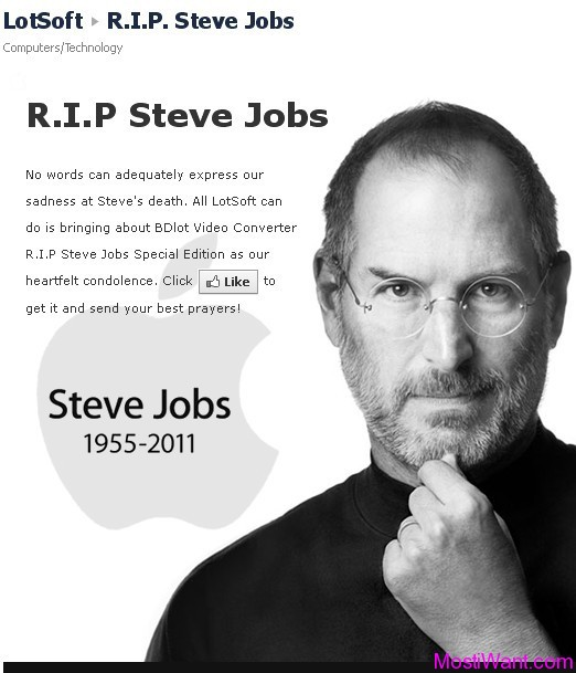 BDlot Video Converter R.I.P Steve Jobs Special Edition Free Giveaway