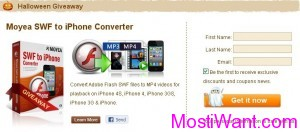 Moyea SWF to iPhone Converter Free Giveaway