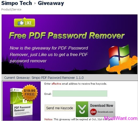 Simpo PDF Password Remover Free Giveaway