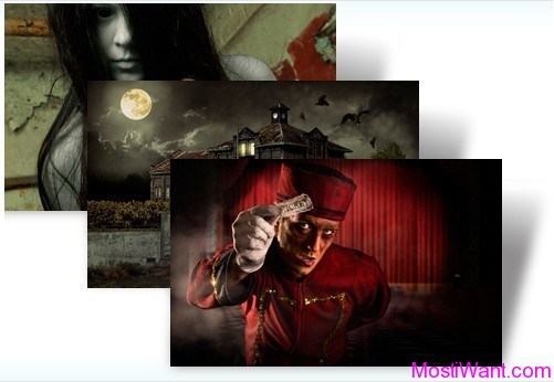 Ticket to Fear Halloween Theme Pack for Windows 7 and Windows 8