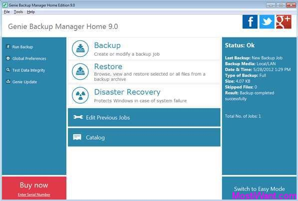 Genie Backup Manager Home 9