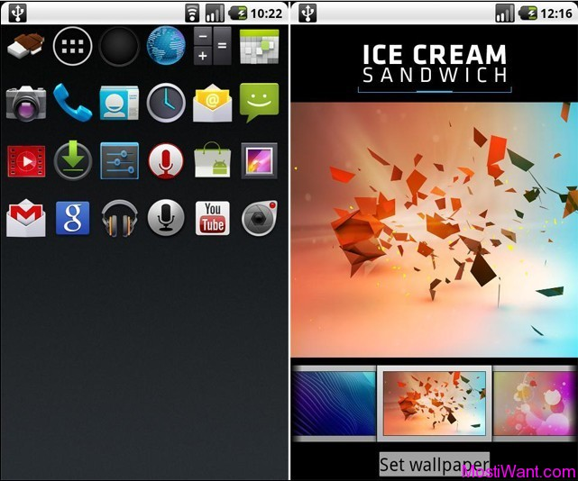 Free Download Android 4.0 Ice Cream Sandwich Theme For Android Mobiles