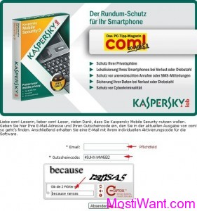 Kaspersky Mobile Security Free Giveaway