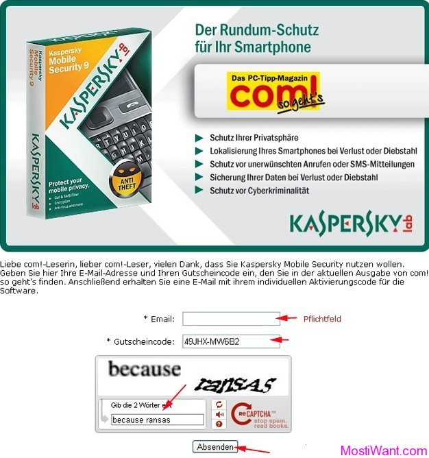 Kaspersky Mobile Security 9 Free 90 Days Activation Code - Most i Want