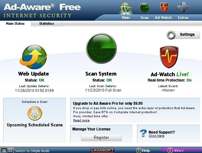 Lavasoft Ad-Aware Free Internet Security