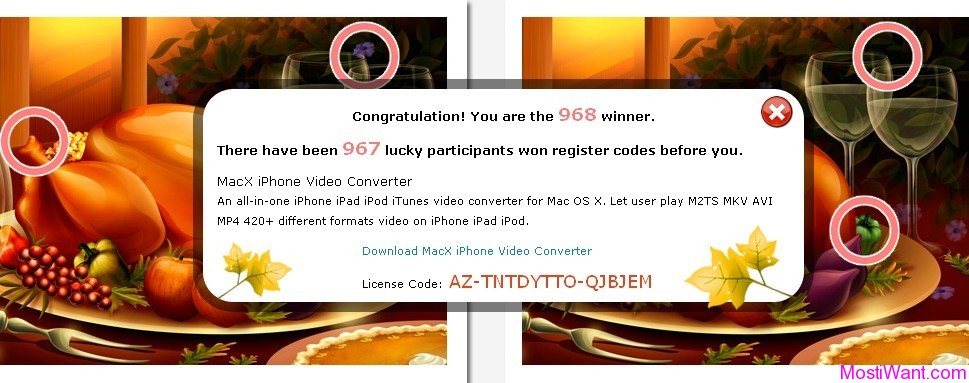 MacX iPhone Video Converter Thanksgiving 2011 Free Giveaway