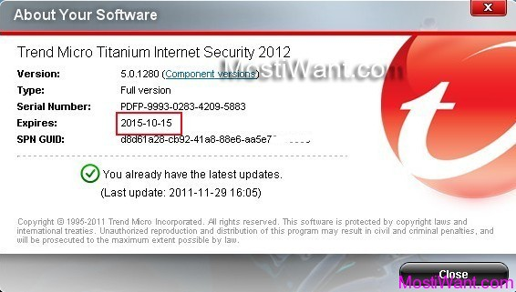 Trend Micro Titanium Internet Security 2012 Free 4 Years
