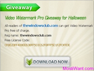 Video Watermark Pro 2.4 Free Giveaway