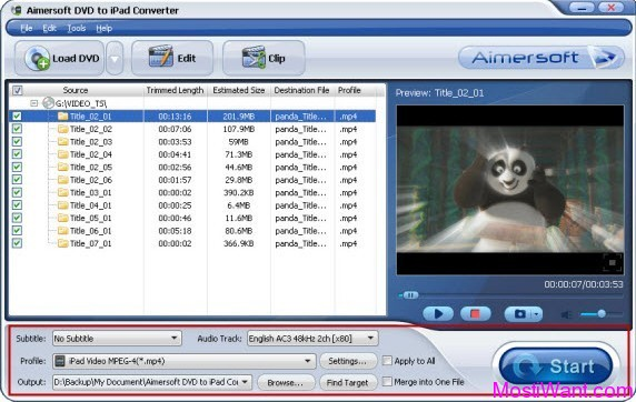 Aimersoft DVD to iPad Converter