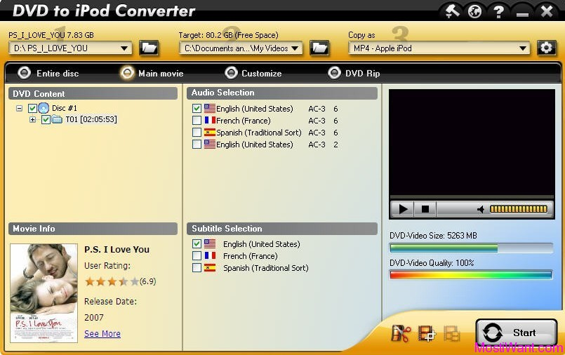 Aviosoft DVD to iPod Converter
