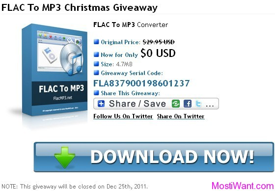 FLAC To MP3 Converter Full Version Free Giveaway