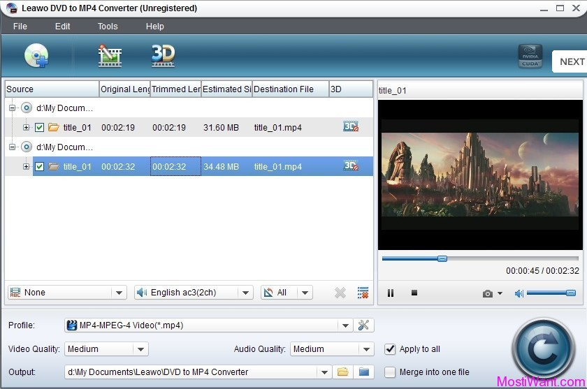 Leawo DVD to MP4 Converter Pro