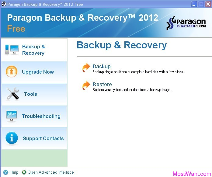 Paragon Backup & Recovery 2012 Free