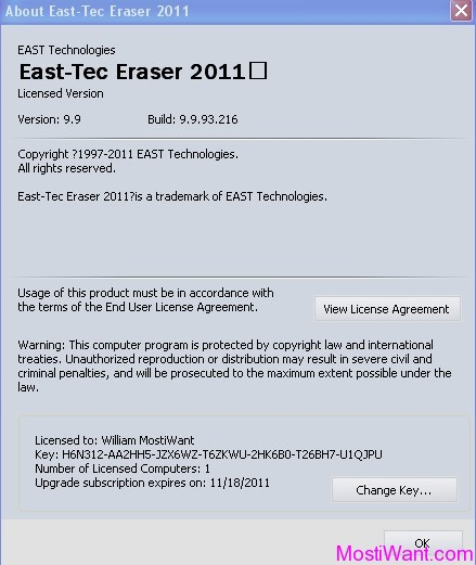 East-Tec Eraser 2011 Registration Details