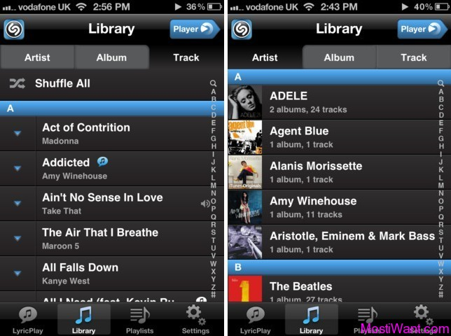 Free iPhone Music Player App