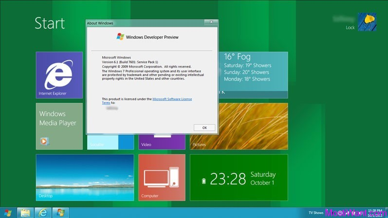 Windows 8 Metro UI on Windows 7