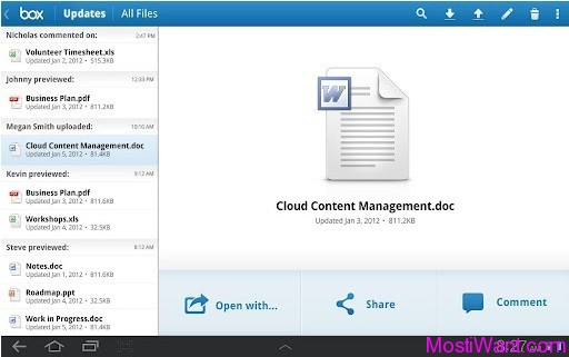 Free 50 GB Box.Net Online Cloud Storage for Android Tablet