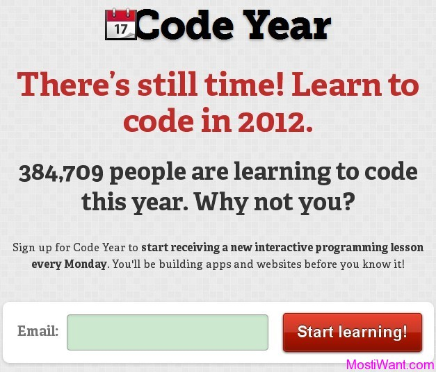 CodeAcademy Code Year Interactive Computer Programming Lessons