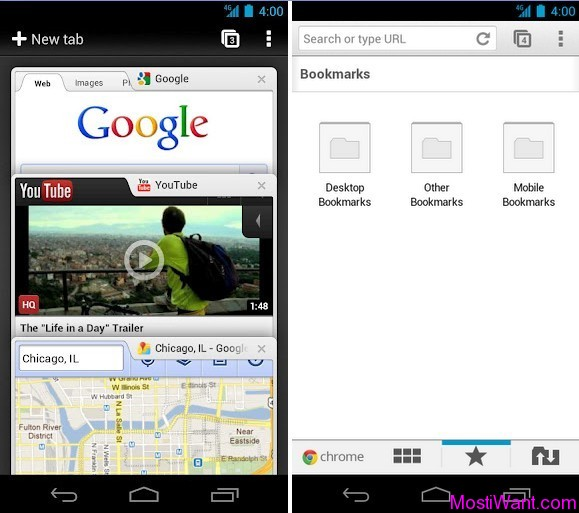 Google Chrome App for Android Phones and Tablets