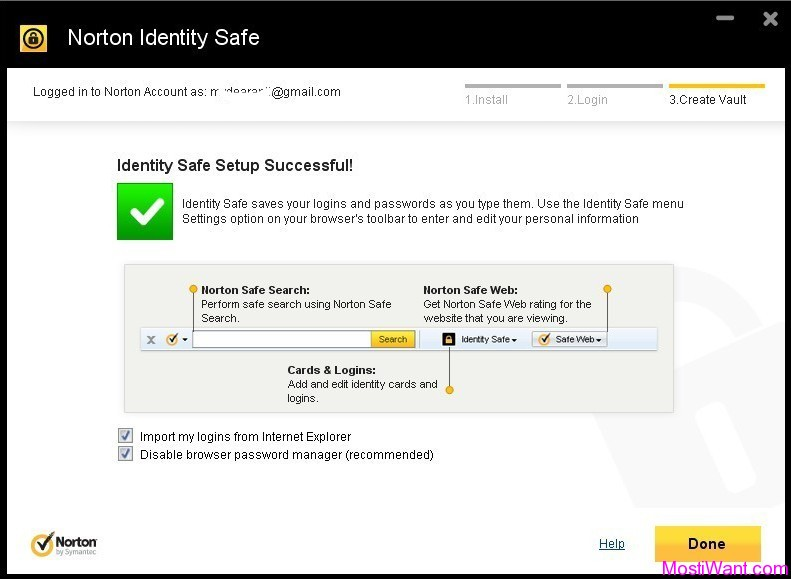 Norton Identity Safe