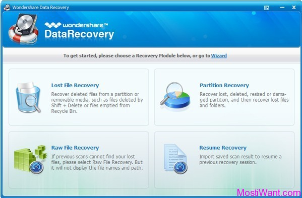 Wondershare Data Recovery Standard Mode