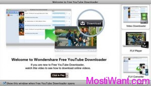 Wondershare Free YouTube Downloader for Mac OS X