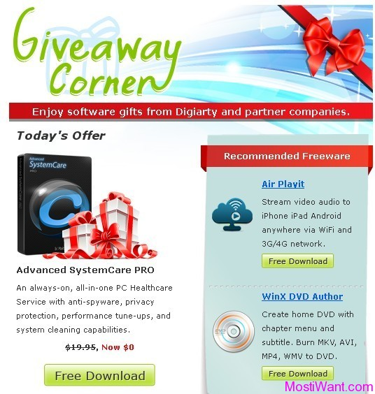Advanced SystemCare PRO Giveaway