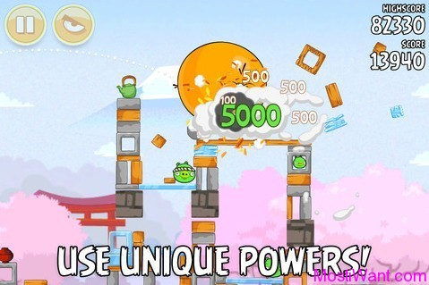 Angry Birds Seasons Cherry Blossoms screenshot 1