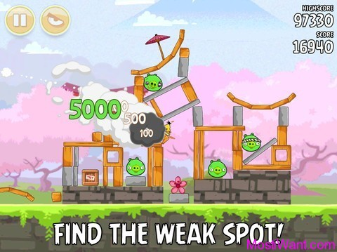 Angry Birds Seasons Cherry Blossoms Screenshot 2