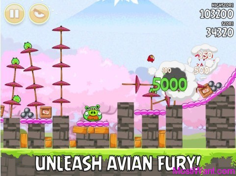 Angry Birds Seasons Cherry Blossoms Screenshot 3