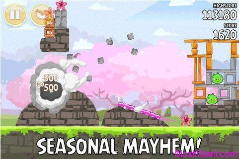 Angry Birds Seasons Cherry Blossoms Screenshot 4