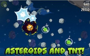 Angry Birds Space Asteroids and TNT