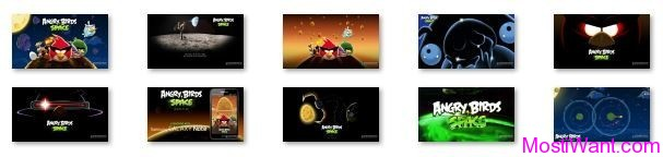 Angry Birds Space Theme Pack for  Windows 7 & Windows 8