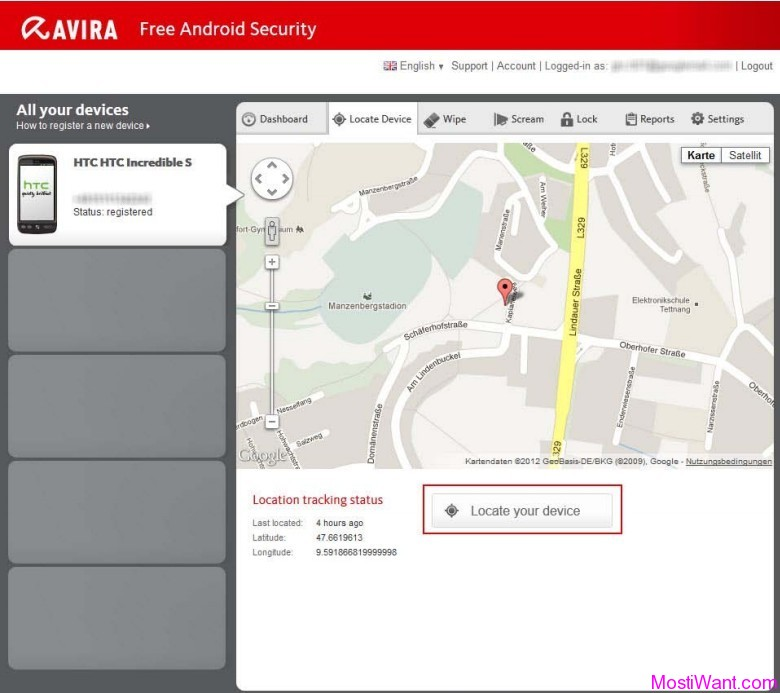 Avira Android Web Console