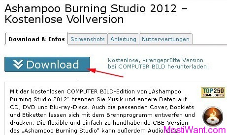 Download Ashampoo Burning Studio 2012 CBE