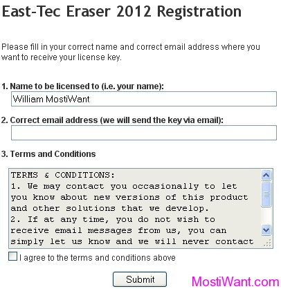 East-Tec Eraser 2012 Registration