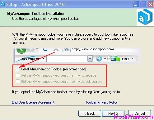MyAshampoo Browser Toolbar
