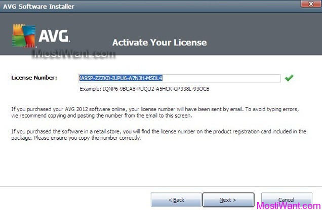 AVG Internet Security 2012 Free 3 Months Serial Key