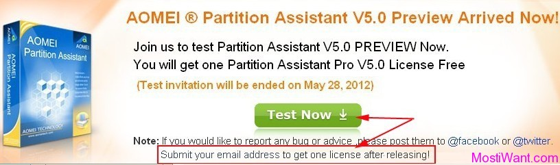 Aomei Partition Assistant Pro 5.0 Free