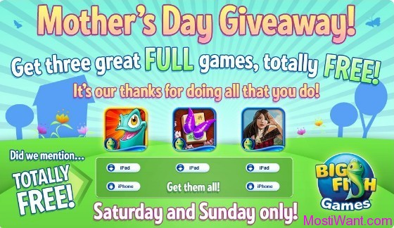 Free iPhone and iPads Games for Mother's Day