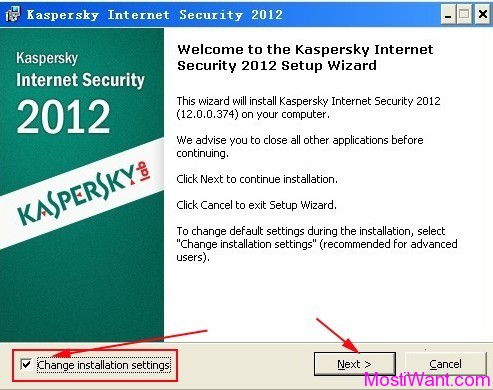 Install Kaspersky Internet Security 2012