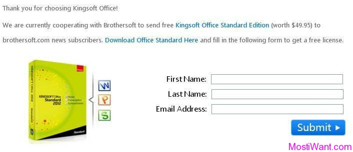 Kingsoft Office Suite Standard 2012 Free Download with
