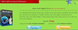 MacX DVD Ripper Pro Serial Key For Free Giveaway