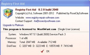 Registry First Aid 8.2 Free Full Version