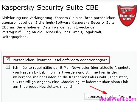 Request License for  Kaspersky Security Suite CBE
